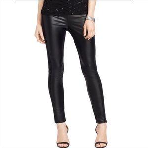 Ralph Lauren Black Faux Leather Pants Sz 2